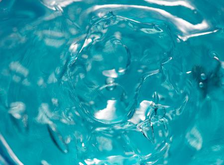 Blue Hair Gel Closeup