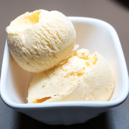 Vanilla Ice cream Close-up shot