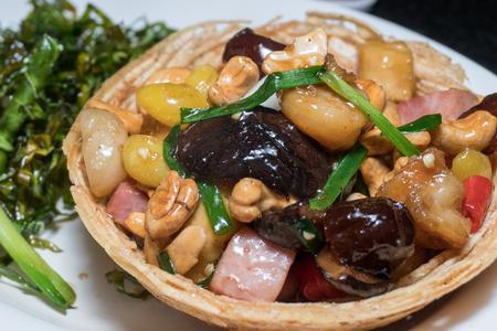 Vegetarian Chinese food Closeup shot