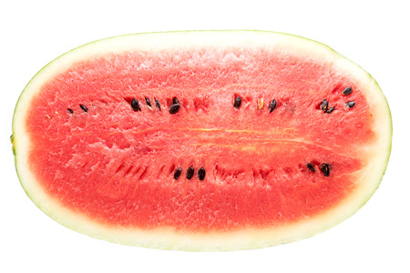 tyrant: Black Tyrant King Super Sweet Watermelon Top view on White background Stock Photo