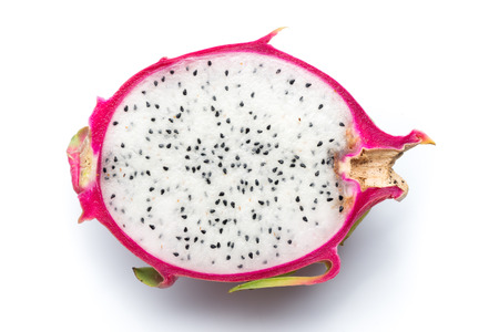 pitaya: Top view of Pitaya Fruit on White background Stock Photo