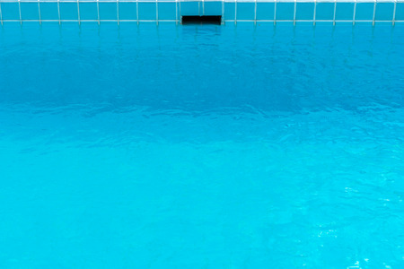 Empty Blue Swimming pool cool and calm Stock Photo