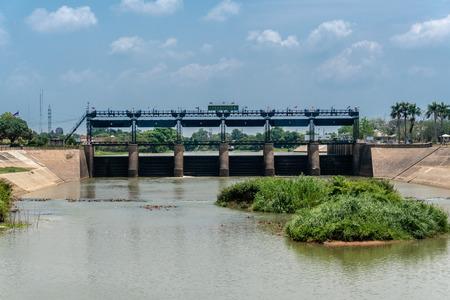 Rama VI Dam of Paasak River,  Tha Luang, Tha Ruea District, Phra Nakhon Si Ayutthaya, Thailand