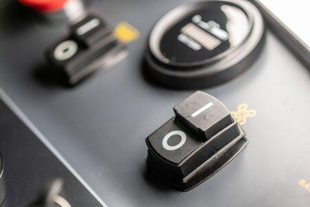 Power button on Dashboard macro shot