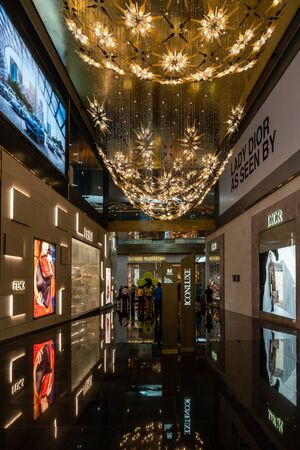 Bangkok, Thailand - Dec 5, 2018 :  Display of Luxury Brand inside the Iconsiam Shopping mall Tourist attraction of Bangkok, Thailand