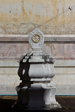 Boundary marker of the temple, symbol of buddhism church photo