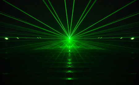 green light: green laser light and sound