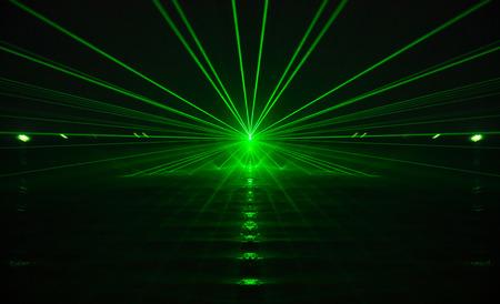 groene laser licht en geluid