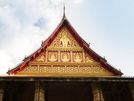 gable: Gable temple Stock Photo