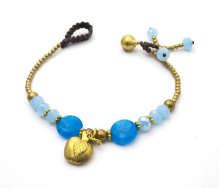 bracelet: blue bracelet