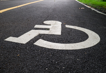 sybol of  lane for disabled