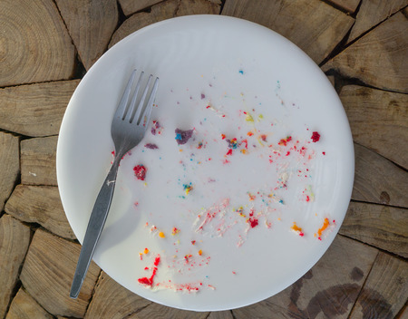 empty and dirty dish after eating