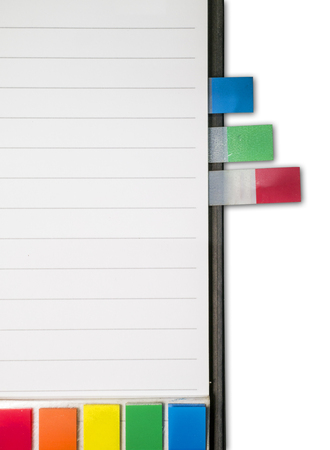 bookmark: colorful bookmark in diary Stock Photo