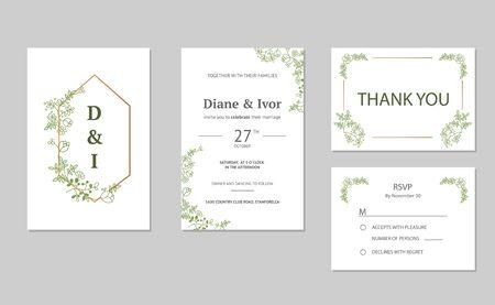 Floral wedding invitation Ilustração