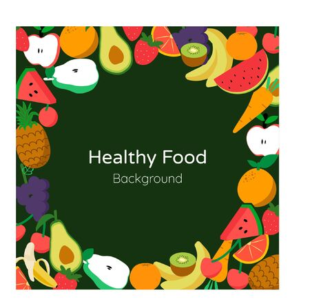 Healthy food background style vector