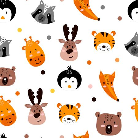 Kids pattern in the colorful style. Vector