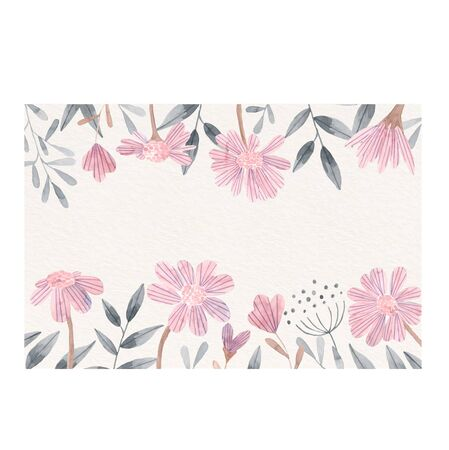 Lovely floral background with watercolor flowers Ilustracja