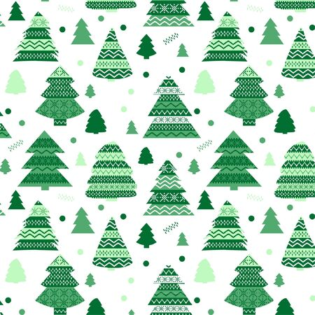 Cute Christmas pattern with Christmas motifs Illustration