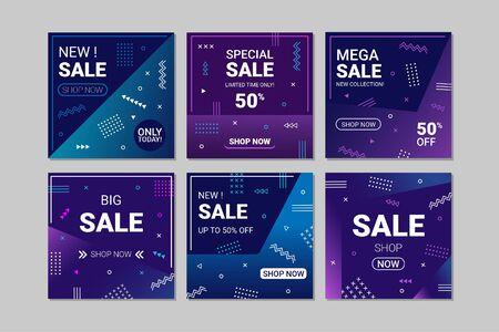 Set of vector sales  stories. Templates