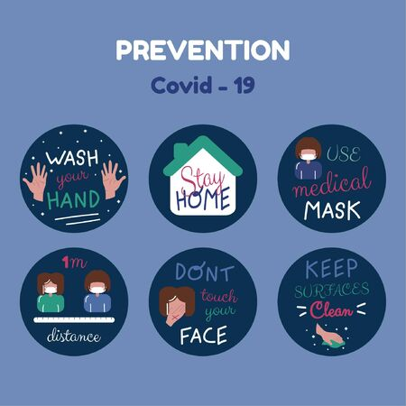 Prevention infographic of what to do and what not to do vector
