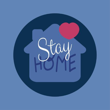 Background stay home vector