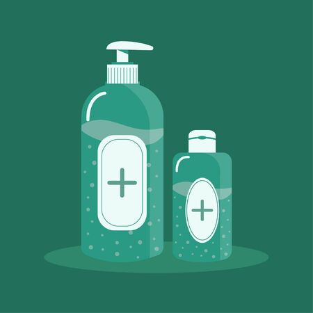Flat hand sanitizer concept vector