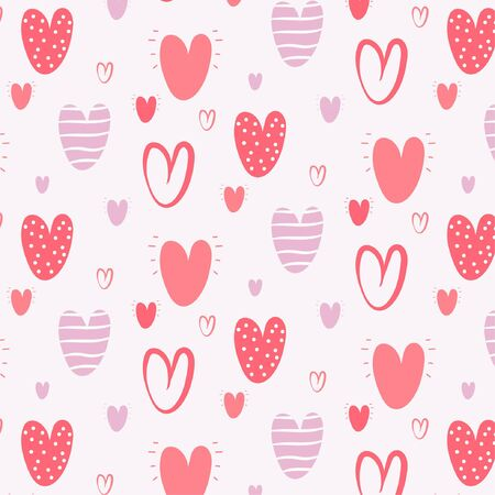 Pattern of vector illustrated heart icons