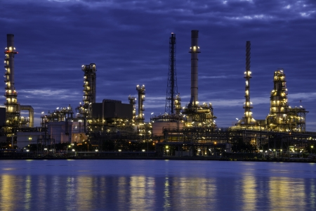 Oil Refinery in the Twilight photo
