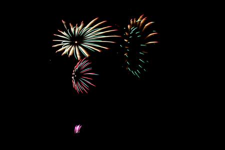 Fireworks in celebrate night Stock Photo