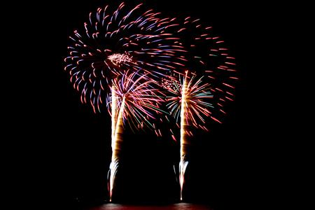 Beautiful firework in the dark night