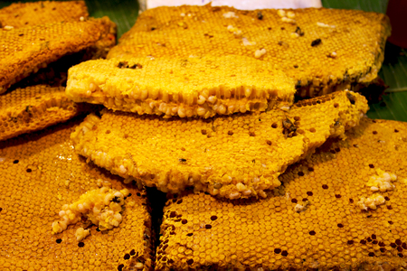 Honeycomb sold in market fair.