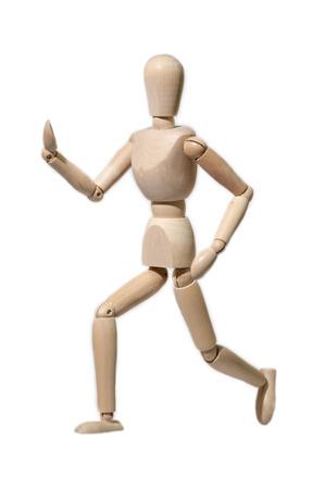 marioneta de madera: Plazo de t�teres de madera en blanco