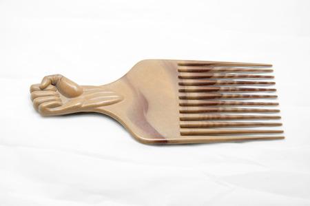 peine: Peine de pl�stico Foto de archivo