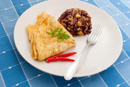 omlete s rýží