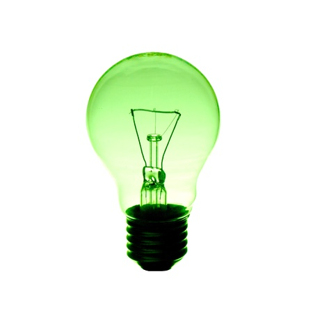 green light bulb Stock Photo - 13263803