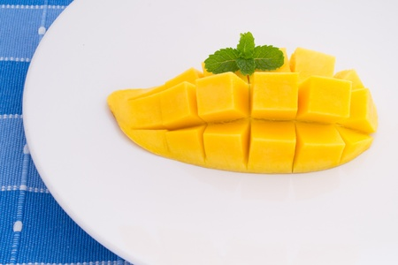Glutinous rice with mango photo