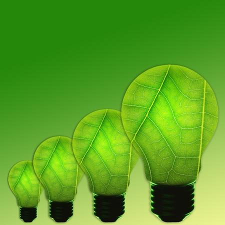 green light bulb concept of green energy