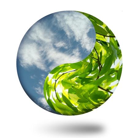yin and yang green globe