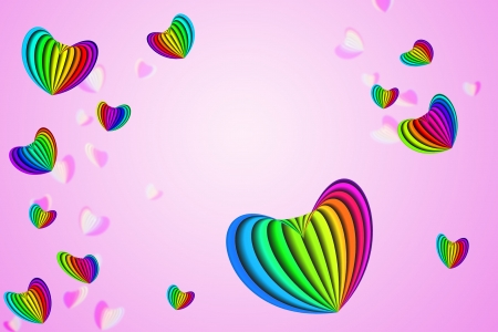 truelove: bstract colorful heart