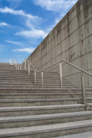 Treppe nach oben in Richtung auf das Ziel