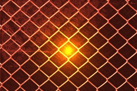 Chain Fence Abstract background