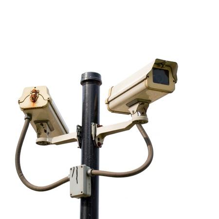 city surveillance: ccTV camera old