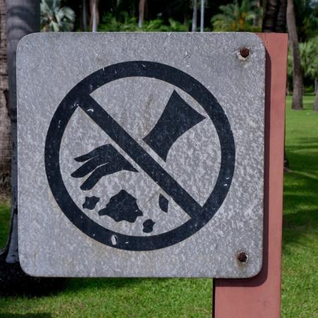 botar basura: Una se�al de no tirar basura