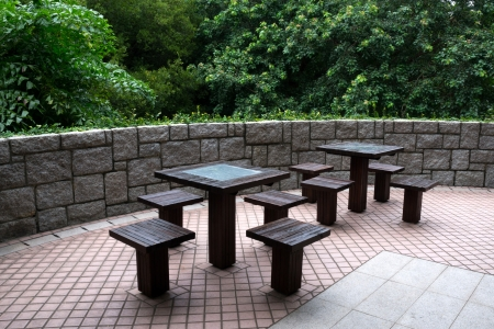 table and chairs in the garden Stock Photo - 15813313