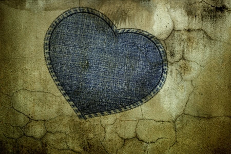 abstract heart shape on cracked wall texture Stock Photo - 17238191
