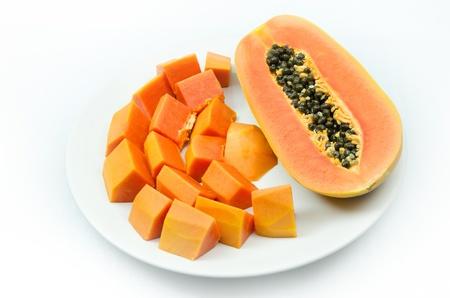 Süße Papaya isoliert Standard-Bild - 18195531