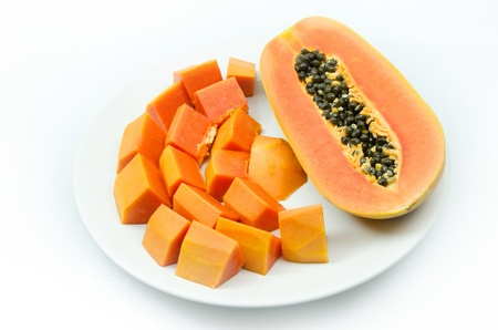 süße Papaya isoliert
