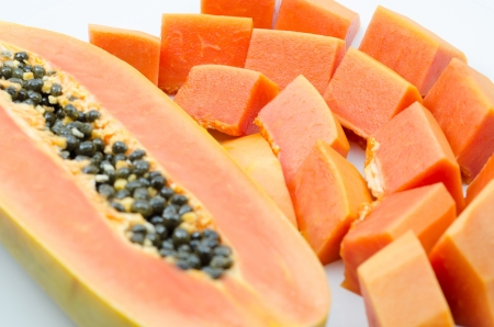 sweet papaya isolated photo
