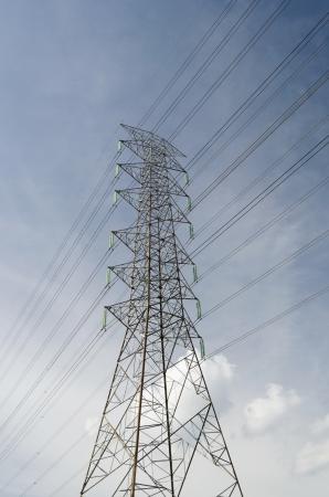 High volate electric pole photo