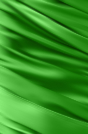 Abstract Fabric Folds Illustration green